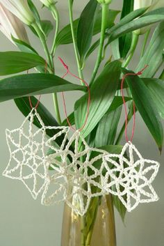 Let It Snow Christmas Ornament   free crochet pattern by Homelea Lass