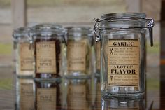 DIY Spice Jar labels includes info on each spice...
