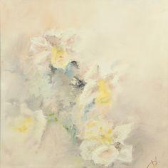 "Saatchi Online Artist: Valeria Duca; Oil, Painting ""Daffodils"""