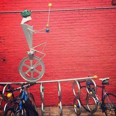 Singing frog #bike rack