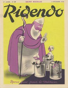 December 1936 Ridendo.  Revue gaie pour le médecin. Jacques Touchet.