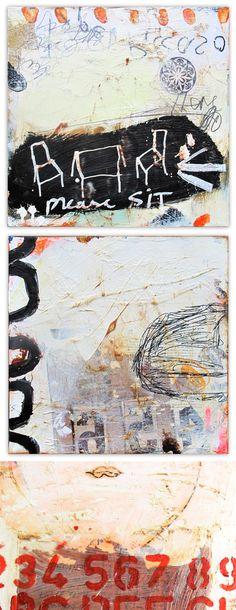 juhl Hansen mixed media paintings
