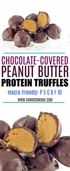 Chocolate-Covered Peanut Butter Protein Truffles - Carrots 'N' Cake