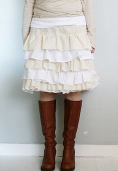 DIY ruffled skirt