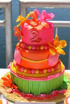 Beautiful luau cake #summer #luau #cake