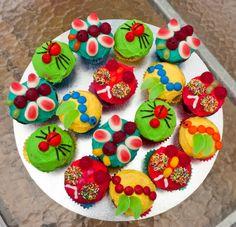 bug party, bug birthday, cupcake party, bug cupcak, party cupcakes