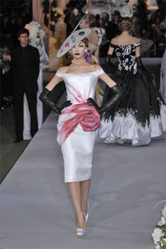 Christian Dior Roses Dress from Couture 2007
