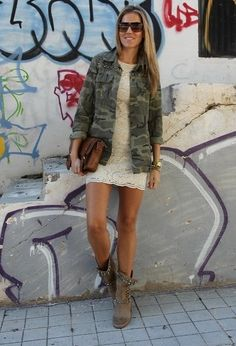 Lace and camo