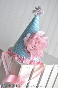Fabric Birthday Party Hat http://www.facebook.com/propshopboutique