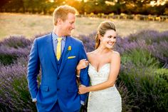Stunning Bride and Groom!! Her hair!! His Suit!! Lavender!!! :)   http://www.bradypuryearblog.com/2014/07/highland-springs-resort-wedding-maranda-rob/