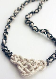 craft, celtic knots, diy fashion, diy tutorial, collar, clothing alterations, diy accessories, necklaces, knot necklac