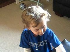 Watch him sing the University of Kentucky fight song. Too cute.