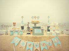 What a beautiful dessert table! #desserttable #beach #dance