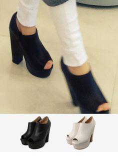 peep toe platform