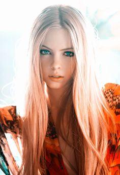 hair colors, orang, straight hair, strawberry blonde, ombre hair, long hair, lock, peach, eye