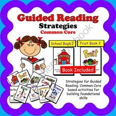 Guided Reading, Guided Reading Strategies, Guided Reading Books 1 & 2 Bundle from theteachinggal on TeachersNotebook.com -  (103 pages)  - Guided Reading, Guided Reading Strategies, Guided Reading Books Alpha 1 School and Alpha 2 Fruit, Guided Reading Lesson Plans, Guided Reading Activities