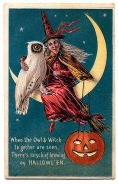 vintage images, vintage postcards, halloween witches, vintage halloween, halloween costumes, graphics fairy, clip art, halloween art, happy halloween