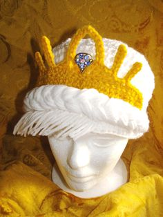 Crochet Queen Elsa Inspired wig hat by DarleneMoon on Etsy, $32.00