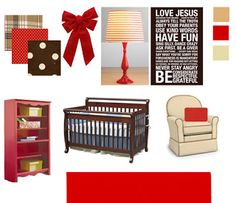 Inspire Me Grey: Nursery Design Plan : Red and Brown Nursery for a girl
