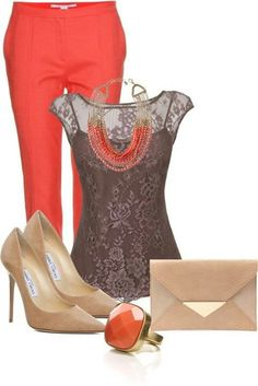 offic work, offic outfit, outfits coral, office looks, fashion, style, cloth, work outfits, wear