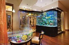 Aquarium wet bar.