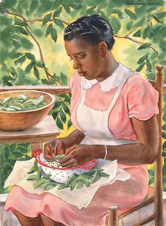 Frank Stanley Herring  Laura Shelling Butter Beans  First half 20th century