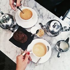 / tea time, tea for two, cooki