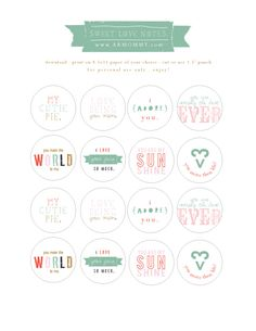 #free #printable love notes.