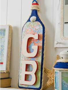 Monogram Paddle Wall Plaque