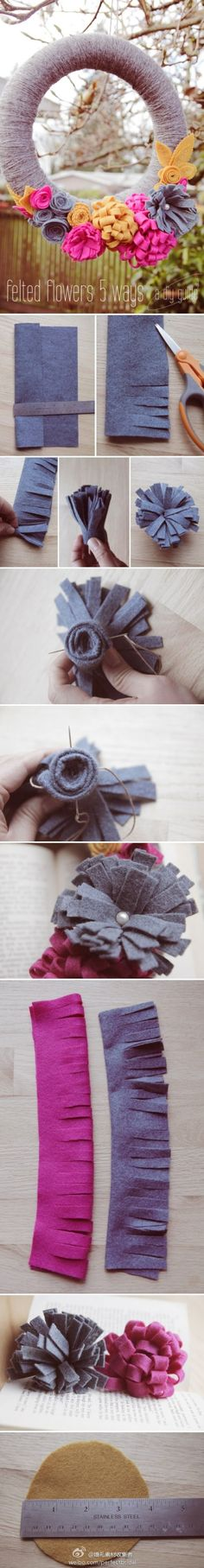 Cool Flower Crafts , Paper Crafts for Teens , paper, craft, flower,wrap, gift, decor,blumen,basteln,bastelvorlage,tutorial diy, spring kids crafts, paper flowers, flower wreath