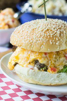 Southern Pimento Cheese Burger Recipe - RecipeChart.com