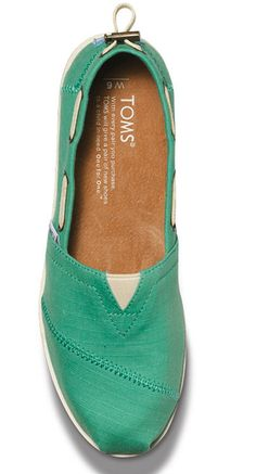 TOMS Mint Boat Shoes