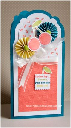 birthday card with framelit and rosette