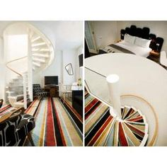 Hotel de Bretts in Auckland by Martin Hughes Architecture Interiors, Gascoigne Associates and the Michelle Deery - I LOVE that carpet! hotel interior, brett auckland, architecture interiors, hotel de, hotels