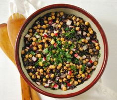 Winter Salads That Will Keep You Full: Chickpea and Black Rice Salad #SelfMagazine