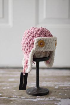 Pink Aviator Hat