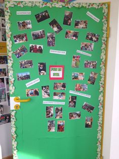 A popular and appealing display for the front door of the classroom...an ongoing pictorial display of the class undertaking different activities. Photos are never taken down, just added to :)  The students love seeing what gets added...as do the parents.  The nice thing is that it is little work and always inspiring for Writers Workshop and portfolio writing!