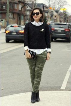 olive-green-military-pants-gap-pants-gold-brooch-chanel-bracelet.jpg (300×450)