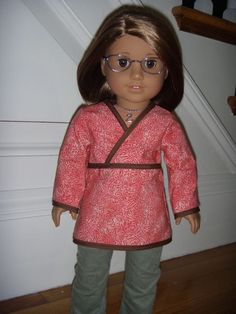 girl doll, doll clothes, american girl diy clothes free, diy tutorial, tunic tutori, kimonos, kimono tunic, ag dolls, american girls