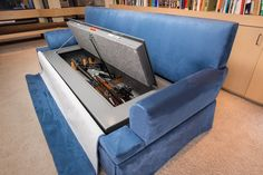 Transformer Furniture: Be ready for anything with the Couchbunker hidden places, guns, gun safes, stuff, weapon, storage ideas, couches, gun storage, man caves