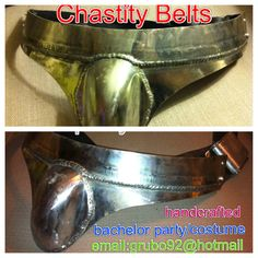 Chastity belts by Tony - contact grubo92@hotmail.com - Great gag gift/bachelor party gift/costume idea themarriedapp.com hearted <3