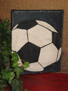 soccer canvas. $25.00, via Etsy.