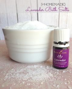 Homemade Lavender DIY Bath Salts Recipe for Christmas Gifts!