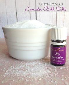 DIY Mother's Day Gift - Homemade Lavender Bath Salts!
