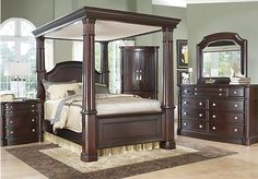 Shop for a Dumont Canopy 6 Pc Queen Bedroom at Rooms To Go. Find Queen Bedroom Sets that will look great in your home and complement the rest of your furniture.