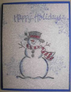 Dryer Sheet Frosty by witty5 - Cards and Paper Crafts at Splitcoaststampers