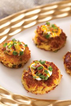 Twice-Baked Potato Cakes