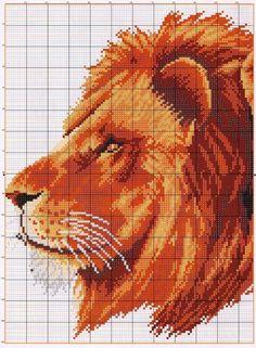 Вышивка крестиком и их схемы львы
