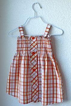 The Shirred Shirt Dress Tutorial (from a men's button down shirt)