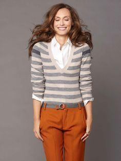 LOVE orange and stripes